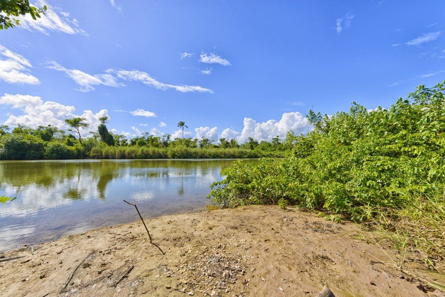 RE/MAX real estate, Belize, Hopkins, River front lot ready to build on