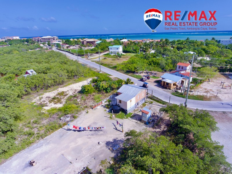Remax real estate, Belize, San Pedro, Commercial Prime Corner Property