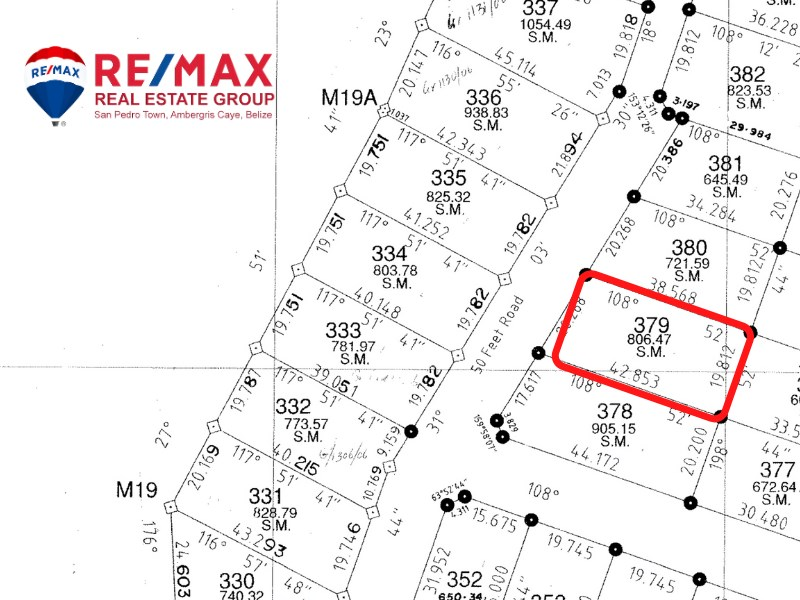RE/MAX real estate, Belize, Ambergris Caye, Ambergris Bay - Parcel #8657