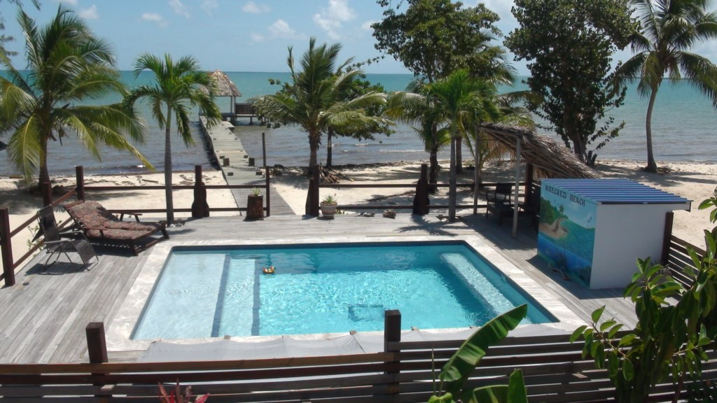 Remax real estate, Belize, Maya Beach, PLACENCIA SEAFRONT WITH POOL AND PIER
