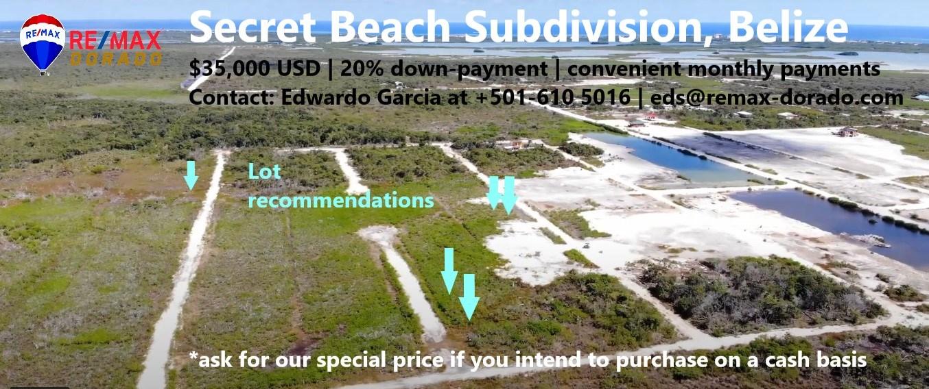 RE/MAX real estate, Belize, Ambergris Caye, Secret Beach Subdivision Lots