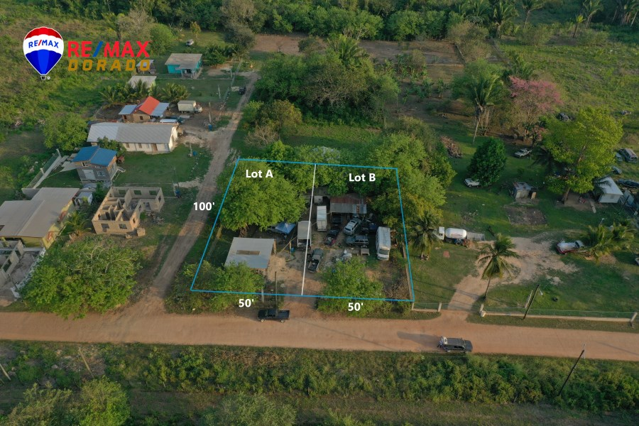 Remax real estate, Belize, Aguacate Camp, Double Lots at the Capital City of Belmopan, Belize