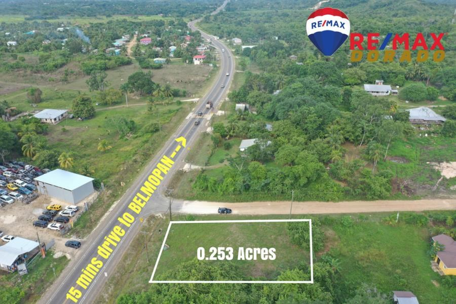 Remax real estate, Belize, Camelote, 1/4 Acre property beside the George Price Highway