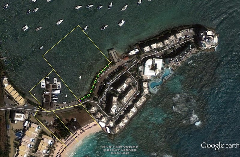 RE/MAX real estate, Sint Maarten, Oyster Pond, Dawn Beach Oyster Pond Beachfront development land REDUCED, LAST OF ITS KIND ON DUTCH SIDE