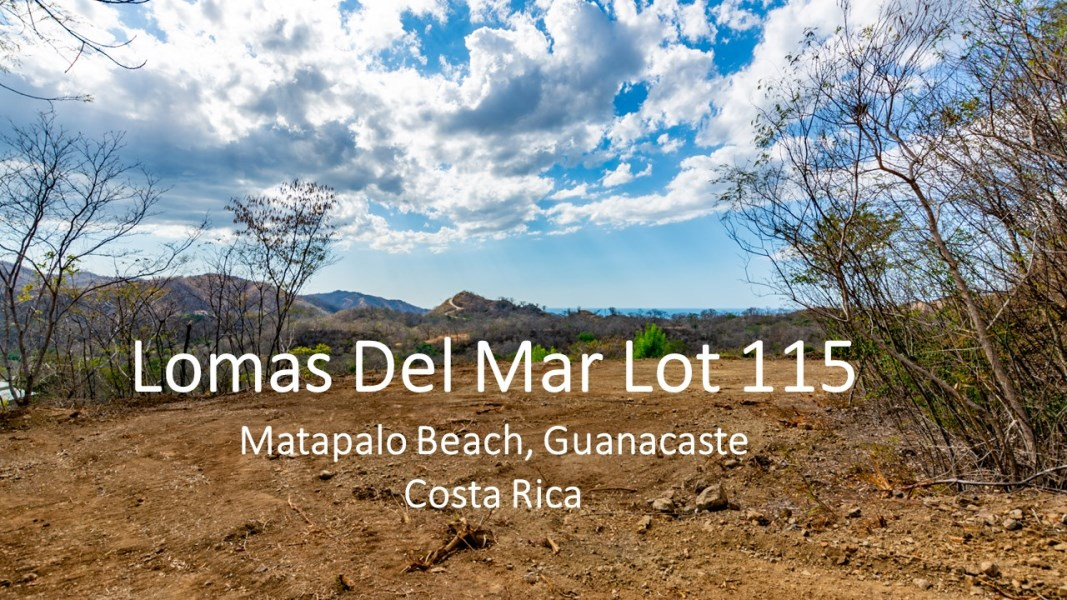 Remax real estate, Costa Rica, Artola, Lomas Del Mar Lot 115