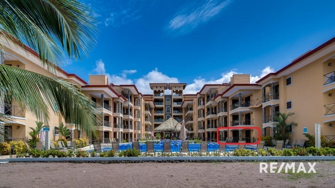 Remax real estate, Costa Rica, Jaco, Bahia Encantada K1 Ocean Front 2 bedroom condo with Seller Financing