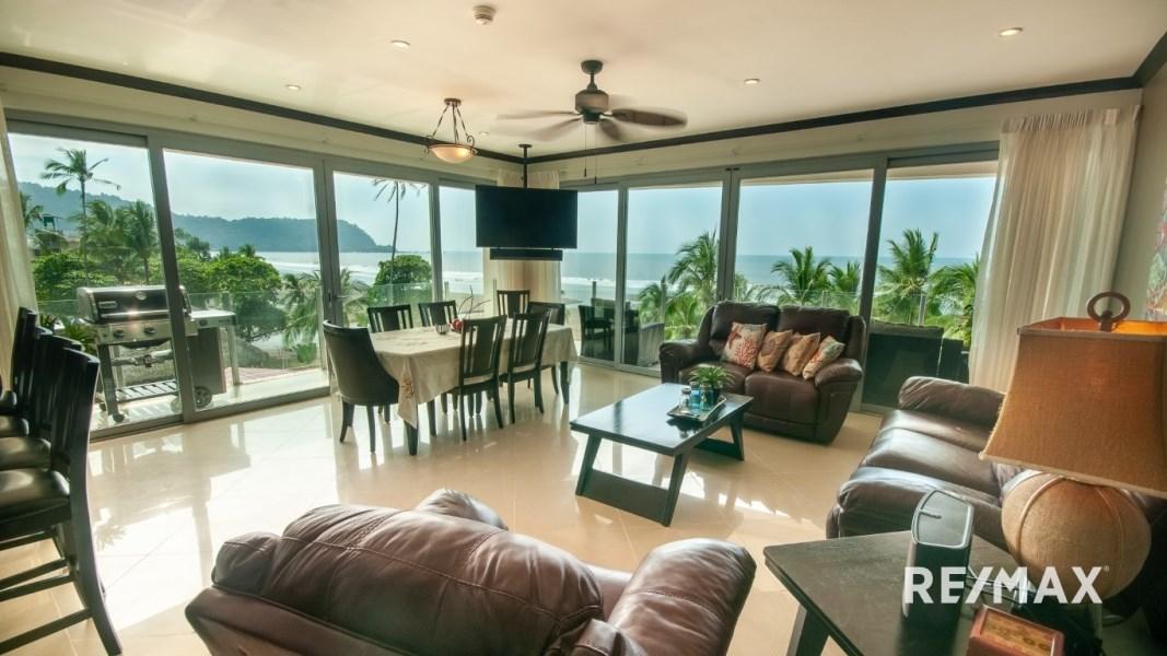 Remax real estate, Costa Rica, Jaco, Diamante Del Sol S403 Oceanfront 3-bedroom Condo