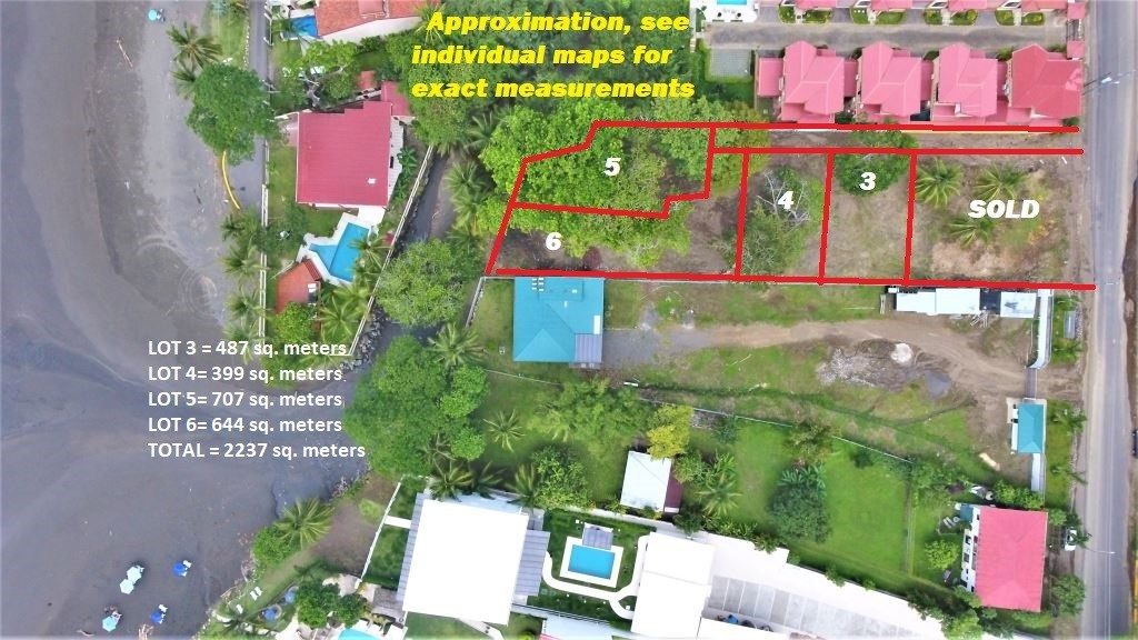 Remax real estate, Costa Rica, Jaco, Jaco Beach Lots, Private Trail to the Beach (10 seconds),  Titled and BEST LOCATION in JACO
