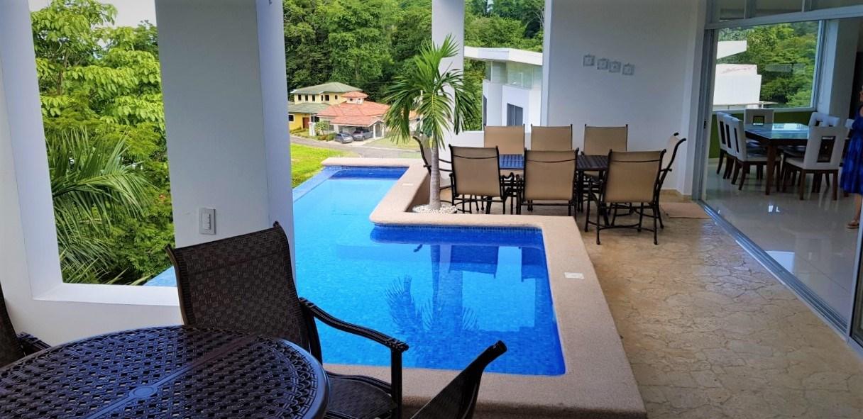 Remax real estate, Costa Rica, Puntarenas, Punta Leona, Villa Leona 6 bedroom villa with great views and pool