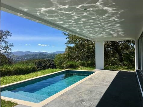 Remax real estate, Costa Rica, Alajuela, Ultra modern style home for rent with AMAZING San Jose Views