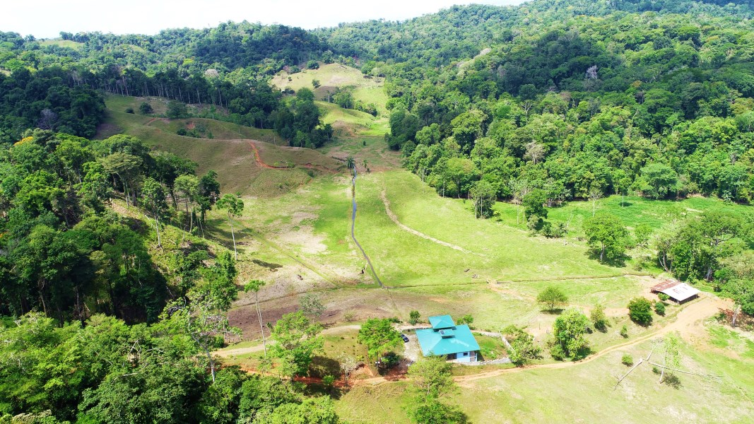 Remax real estate, Costa Rica, Mogos, 97 acres Finca with 3 bedroom house in tropical, country setting. Mogos