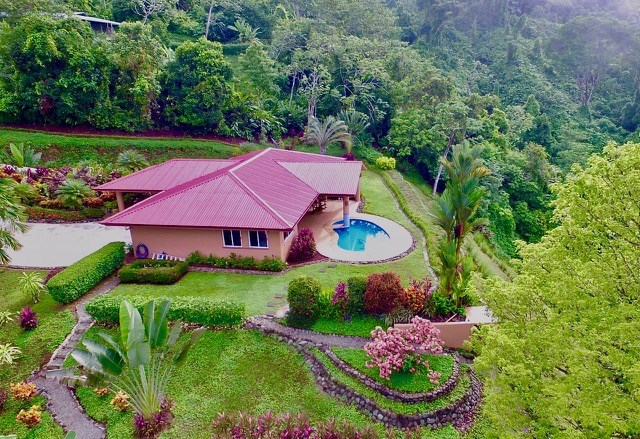 Remax real estate, Costa Rica, Laguna, Impeccably Landscaped Ocean View Home in Lagunas.