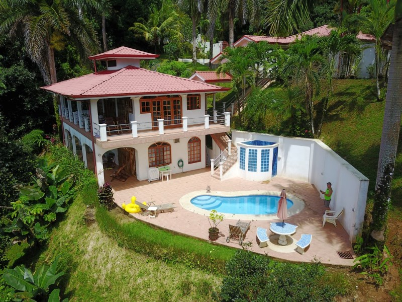 Remax real estate, Costa Rica, Laguna, 1.3 ACRES – 2 Bedroom Home with Pool, Big View, and 2nd Building site.