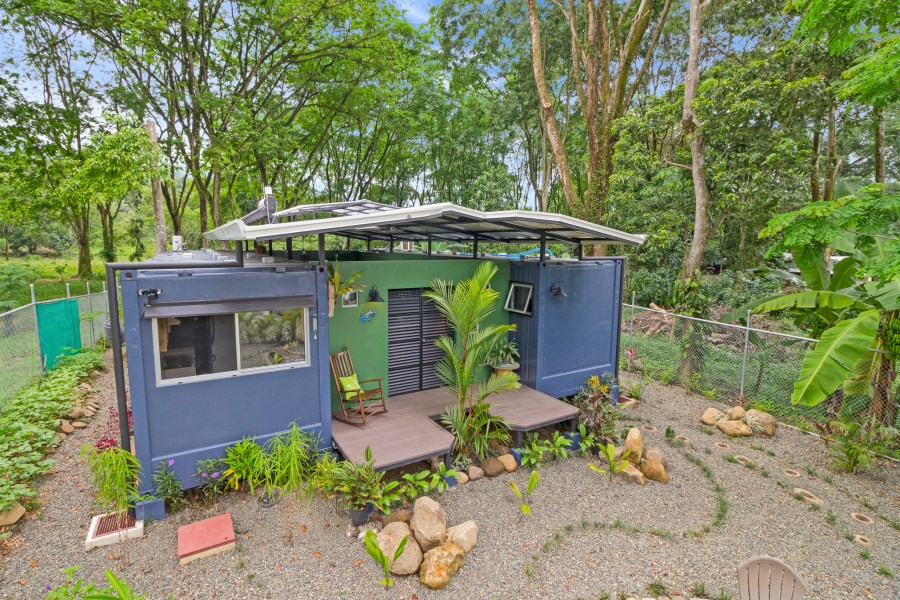 Remax real estate, Costa Rica, Uvita, Brand-new, beautiful, two-bedroom container home with saltwater plunge pool.