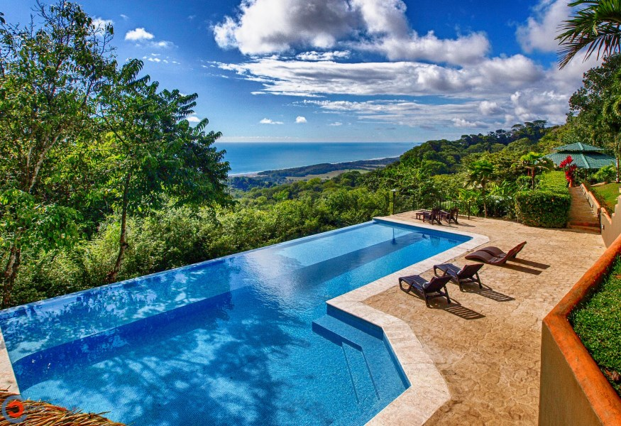 Remax real estate, Costa Rica, Laguna, 3 Bedroom Home Plus 1 Bedroom Guest Home, Huge Infinity Pool, Room To Build More