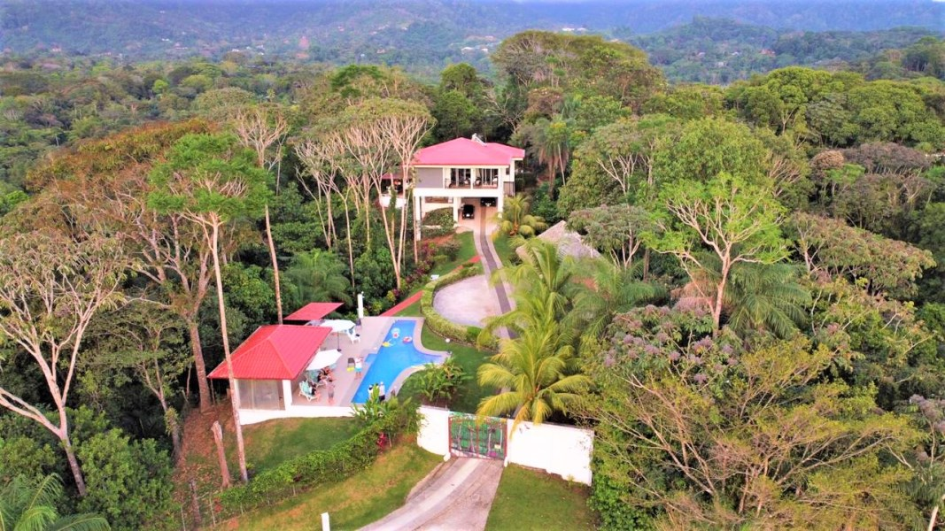 Remax real estate, Costa Rica, Ojochal, WORK & PLAY. SCENICALLY SUPREME. Majestic MOUNTAIN and incredible white-water OCEAN & SUNSET views.