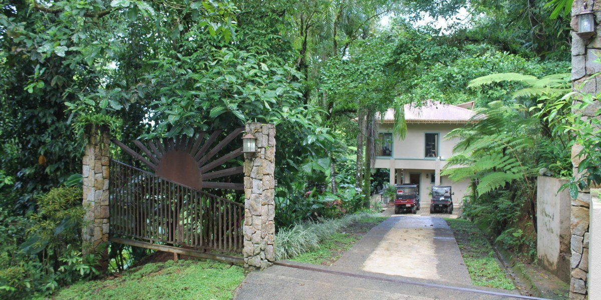 Remax real estate, Costa Rica, Ojochal, Three-bedroom Off-Grid Jungle Home with Waterfall, Dipping Pool & Wildlife Trail in Ojochal Costa Rica
