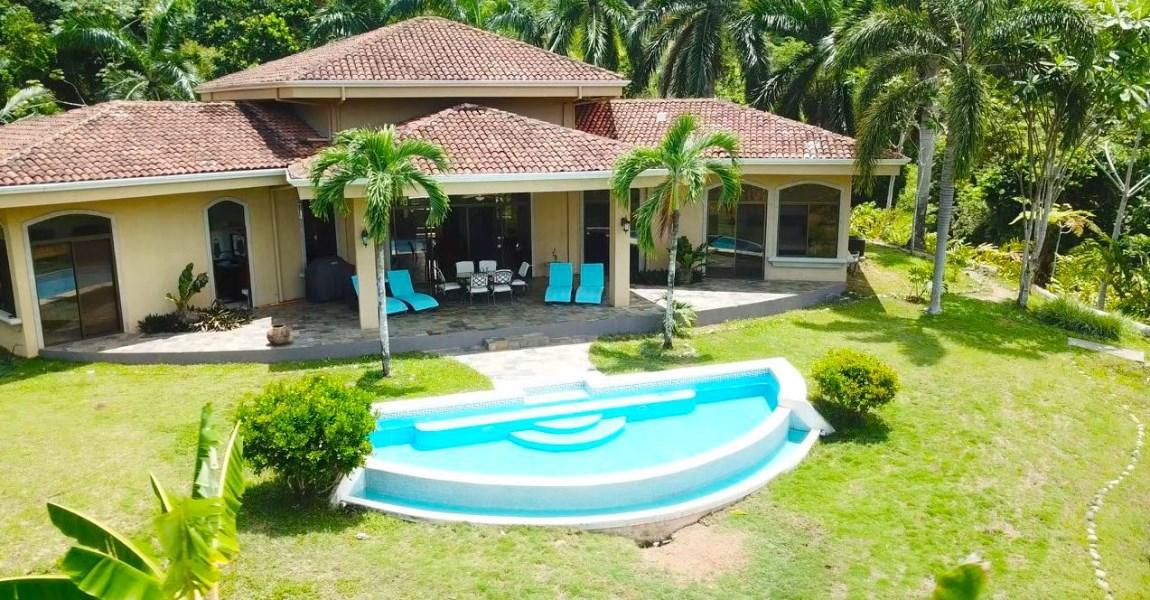 Remax real estate, Costa Rica, Quepos, Hills of Portalon: Villa Dahlmar, Park-like Ocean View 3 Bedroom Home