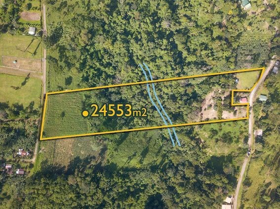 Remax real estate, Costa Rica, San Carlos, Six Acres of Land in Sonafluca with River, Waterfall and Amazing Views of Arenal Volcano